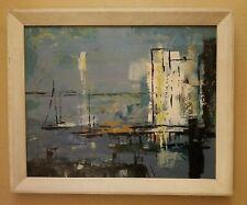 Artist DEE SUDBURY Vintage Mid Century Modern Original Painting Framed 23 x 19