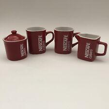 Red Nestle Nescafe Clasico Cup Creamer Sugar Bowl Set