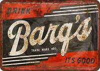 "Barq's Root Beer Vintage Rustic Retro Metal Sign 8"" x 12"""