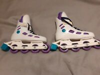 INLINE SKATES SIZE UK 1 EURO 33 EXCELLENT CONDITION like roller skates blades