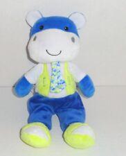 "Baby Gear Blue Hippo Plush Doll 12"" White Yellow Cow P58"
