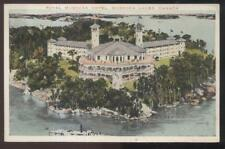 Postcard MUSKOKA LAKES Ontario/CANADA  Royal Hotel Bird's Eye Aerial view 1910's
