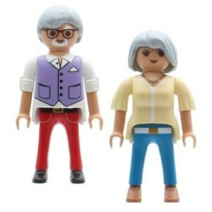 Playmobil Abuela & Abuelo Mayores Abuelos Plata Ager Mejor Ager