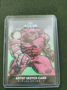 2020 UD Upper Deck Marvel Juggernaut Anime Original Artist Sketch Card True 1/1