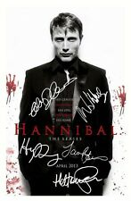 HANNIBAL: THE SERIES GLOSSY A4 PHOTO PRINT - CAST SIGNED (MADS MIKKELSEN etc)