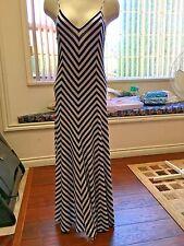 Polo Ralph Lauren NEW Women's Blue/White Chevron Striped Maxi Dress Medium $198