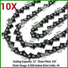 "10XChainsaw Chain 12""x44DL,3/8LP Pitch, 0.050 Gauge Baumr-AG Polesaw STIHL BBT"