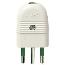VIMAR SPINA 2P+T 10A ASSIALE BIANCO 01021.B