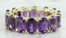 9.98 Carat Natural Amethyst 14K Solid Yellow Gold  Ring