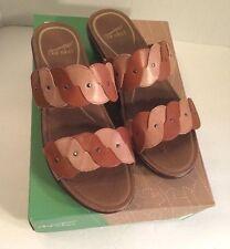 Dansko Dee Full Grain Caramel/sand Leather Slide Sandals EU 40 US 10 Ret 135