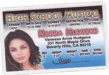 Vanessa Nessa Hudgens star of High School Musical Walt Disney Drivers License