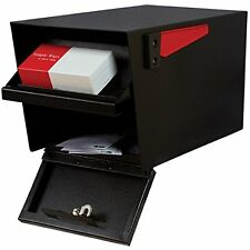 Residential Locking Security Mail Box Black USPS Approved Steel Letter Manager
