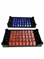 Stratego Game Replacement Pieces 40 Red & 40 Blue Milton Bradley 2002