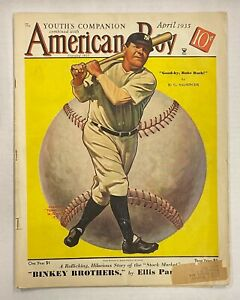 Vintage 1935 THE AMERICAN Magazine w/ BABE RUTH Yankees HOF Cover