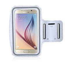 Running High Quality Adjustable Neoprene Armband Tie Samsung Galaxy S6 White