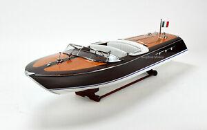 "Riva Ariston Handmade Wooden Classic Boat Model 35"""