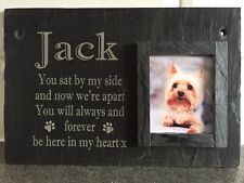 Personalised Welsh Slate Pet Photo Memorial sign Plaque Cat Dog Rabbit Etc