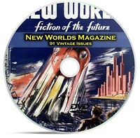 New Worlds, 91 Classic Pulp Magazine, Golden Age Science Fiction DVD CD C63