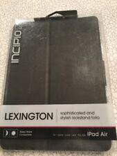 Incipio Lexington ~ for Apple iPad Air ~ Black ~ Hard Shell Folio Case