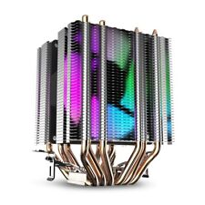 Cpu Air Cooler 6 Heat Pipes Twin-Tower Heatsink With 90Mm Rainbow Led Fans B1Z9