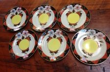 Vtg 1920s Moriyama Mori-Machi Moriage Gold Hand Painted Japan Dessert Plates