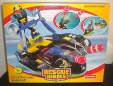 NEW 2002 FISHER PRICE RESCUE HEROES QUICK RESPONSE WATERCRAFT