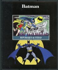 Chad 2016 CTO Batman Robin 1v M/S Comics Cartoons Superheroes Stamps