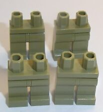 Lego Olive Green Legs x 4 for Miinifigure