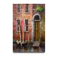 NY Art - Wonderful Venice Canal & Gondola Scene 24x36 Oil Painting on Canvas!