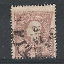 FRANCOBOLLI 1858 LOMBARDO VENETO 10 SOLDI USATO VENEZIA 15/2 A/2865
