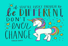 UNICORN QUOTE CANVAS PICTURE POSTER PRINT UNFRAMED 6960