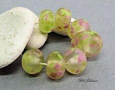 "Lampwork Glass Beads,  ""Summer Frost"", SRA, UK"