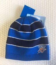 Oklahoma City Thunder Knit Beanie Toque Skull Cap Winter Hat NBA Women's Striped