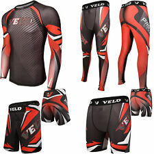 Velo Rash Guard Mma Shorts Compression Training Leggings Mma Fitness Exercise