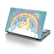 "TaylorHe 15.6"" Laptop Vinyl Skin Sticker Decal Pretty Rainbow Unicorn 2214"