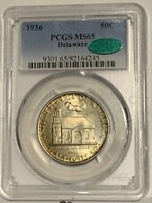 1936 DELAWARE Commem Half Dollar - MS-65 (PCGS, Green CAC)