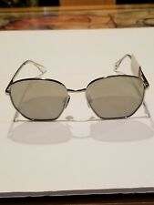 7cbbbff097bf5 NWT Le Specs Luxe Gradient metal mirrored Sunglasses In Silver-Tone Frame   118
