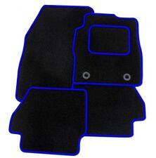 Volkswagen Beetle 2000-2011 TAILORED CAR FLOOR MATS- BLACK WITH BLUE TRIM