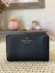Kate Spade New York Leila Medium Compact Bifold Wallet Leather Black / Gold