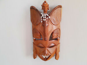 Wall Hanging Mask Tribal Style Wood Mask Room Decor