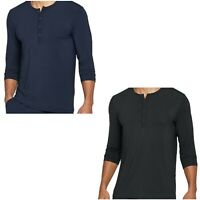 Under Armour Athlete Recovery Sleepwear 3/4 Sleeve Henley Shirt Size S L 2XL 3XL