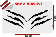 Sticker 2x Adesivi Decal Graffio Graffi Artigli Artiglio Claw Tuning Auto Moto