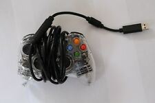 Afterglow Xbox 360 Clear Red LED Wired Controller Tested and WORKS FREE SHIPPING