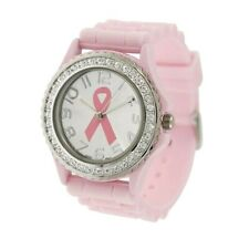 Stainless Pink Cancer Ribbon Support Survivor Watch Fashion Women Wrist Watch