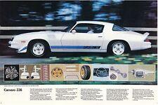 1979 CHEVY CAMARO Z-28 AD POSTER 24 x 36 INCH | WHITE