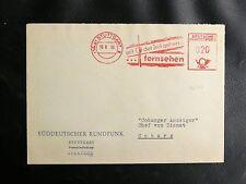 ALLEMAGNE FLAMME : MIT DER ZEIT GEHEN FERNSEHEN - STUTTGART 10. 6. 1958 - TBE
