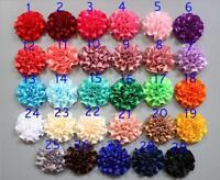 5/15/25 Pcs satin ribbon big Peony Flower Appliques craft Wedding decoration DIY