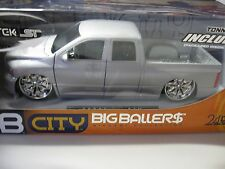 1:18 Scale 2003 Dodge Ram 1500 Diecast Truck - Jada / DUB City Silver DIECAST
