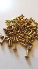 """Brass Rivets  1/4"""" Long x 3/32 dia R/Head  50 off"""
