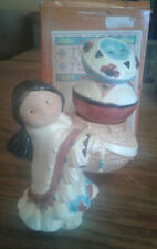 New listing Friends of the Feather - Girl with Pot Salt and Pepper Shakers, 1996 #270601